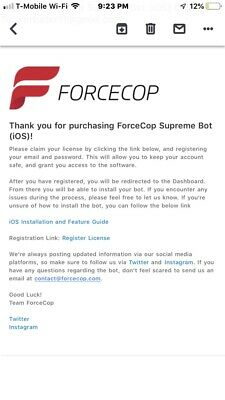 Force Cop Supreme Bot Ios