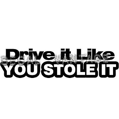 Attitude Racing Racer Car Vinyl Decal Sticker 10608 Drive It Like You Stole It
