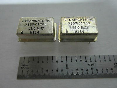 LOT 2 EA CTS KNIGHTS QUARTZ OSCILLATOR FREQUENCY 11 MHz STANDARD