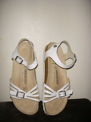 bb467a9ccc1 BIRKENSTOCK BALI WHITE Leather Sandals Womens -Size 39 Eur 8 Us ...