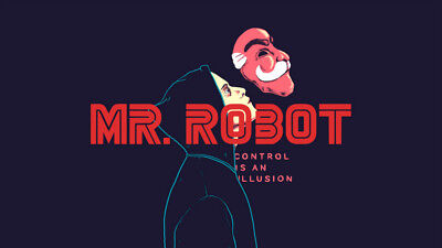 Control is an illusion mr robot elliot Silk Fabric Poster 24 X14 inch