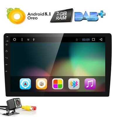 """2 Din Android 8.1 BT Car indash Player GPS 10.1"""" HD Stereo Radio Unit WIFI w/Cam"""