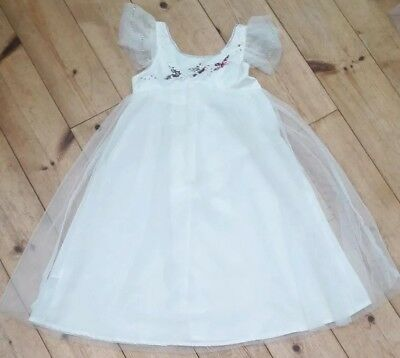 Girls Monsoon Christmas Party Dress Age 7 to 8 Cream Sequin Occassion Bridesmaid
