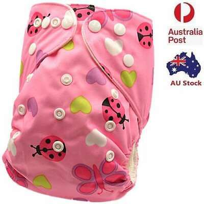 Baby Girl Modern Cloth Nappies Diapers Diaper Insert Reusable Washable MCN (D87)
