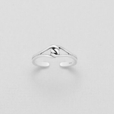 Tjs 925 Sterling Silver Double Dolphin Design Toe Ring Adjustable Body Jewellery Jewelry & Watches
