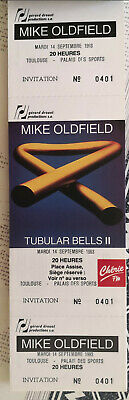 Mike Oldfield Carnet 50 Billets/tickets concert avec souches TOULOUSE 9/93 rare