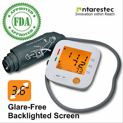 Automatic Upper Arm Blood Pressure Monitor Backlit FDA Approved Heart Rate Pulse