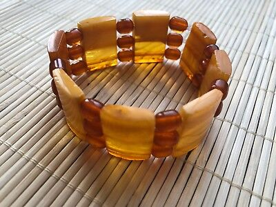 Natural Antique Baltic Vintage Amber OLD Gemstone TOP QUALITY Bracelet Jewelry