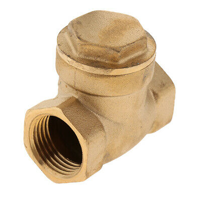 DN15 Female Thread One Way Automatically Brass Swing Check Valve, 1.6MPa,1Pk