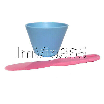 Dental Nonstick Flexible Silicone Rubber Mixing Bowl Light Blue Plastic Spatula
