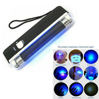 Mini Portable LED Flashlight Lamp Torch Ultraviolet Light UV Money Detector