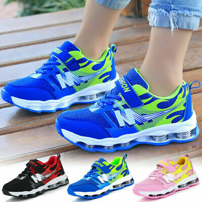AUS Kids Children Breathable Mesh Running Sport Shoes Boys Girls Casual Trainers
