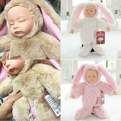 BDC8 Rabbit Simulated Doll Simulation Reborn Doll Role Play Kids Gifts Model