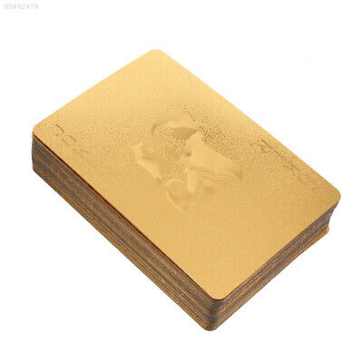 C193 Geometric 24K Gold Foil Poker Game Cards For Casino Family Party Durable