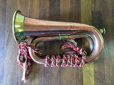 Early Copper and Brass Bugle - Hawkes & Son Denman Street London Class 'C'