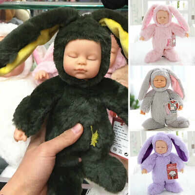 CE63 Rabbit Simulated Doll Reborn Baby Doll Model Kids Toy Simulation