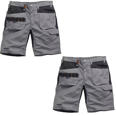 8a2f2bbeb8 Scruffs Trade Flex TWIN PACK Slim Fit Work Shorts Grey (Various Sizes)