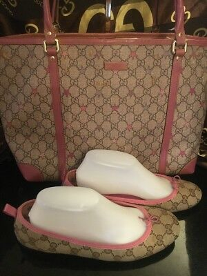 6f382a5b62ef Authentic Gucci Tote Star Bag Pvc 271264/ Gucci Ballet Shoes Sz 39.5 All  For One