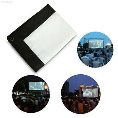 B1EF Fiber Canvas Projection Screen Projection Curtain Home Theater School Bar