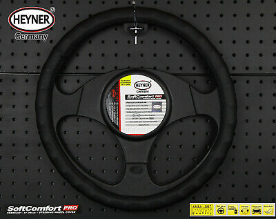 CAR VAN steering wheel cover top comfort black leather look anti-slip 37-39cm