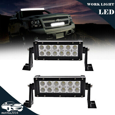 36W 6'' FLOOD LED Work Light Bar Driving Lamp for 4WD  UTE Offroad ATV SUV Truck