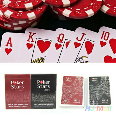 9183 1 Set/Lot Texas Playing Game Poker Cards Dull Polish Waterproof Star For
