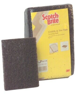3M Scotch Brite 46 Griddle and Hot Plate Cleaning Pads Pack of 10 Heavy Duty
