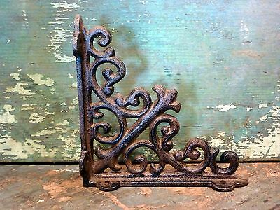 Cast Iron Set/2 Small Ornate Bracket Brace Home Wall Shelf Table Garden Decor