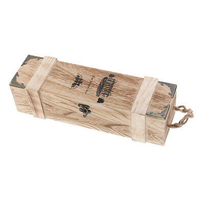 Natural Wood Single Bottle Wine Box Carrier Case Best Gift Decoration Case
