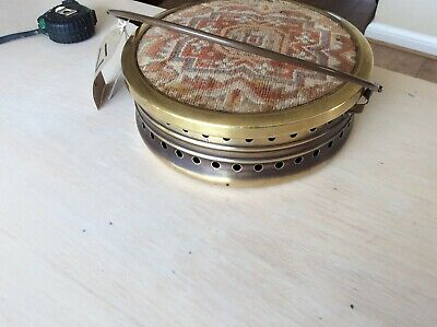 Antique Victorian foot warmer for carriage, car, automobile brass