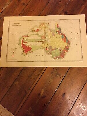 Geological Map Of Australia The Picturesque Atlas Publishing Co 1880? Original