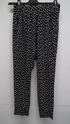 Black and White Floral Trousers from Next age 11 years