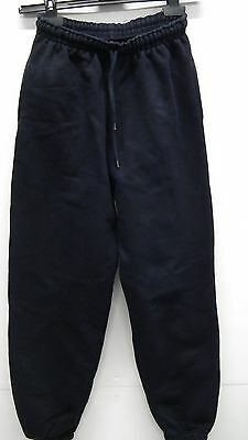 Navy Blue Elasticated Waist Tracksuit Bottoms From Deluxe Jog Pants size 12-13 y