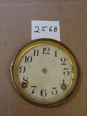 Antique Ingraham Tambour Mantle Clock Dial And Bezel With Glass