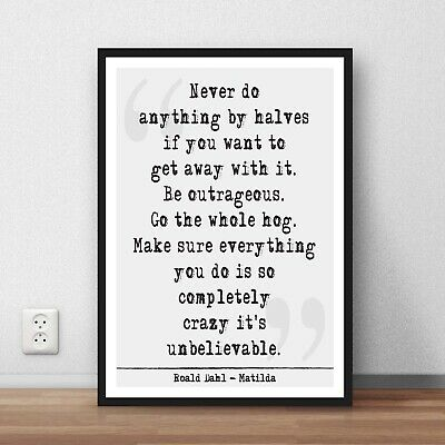 Roald Dahl Matilda Quote dictionary page art print gift literary book quotes