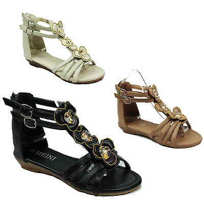 Womens Summer Strappy Gladiator Wedge Heel Ankle Sandals Ladies Shoes Size 3-8