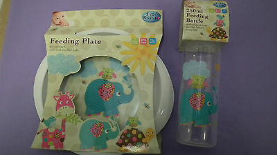 First Steps VBaby Bottle and Feeding Plate  Brand New in packaging