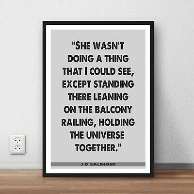 SALINGER The Catcher in the Rye ❤ typography book quote poster print #121 J.D