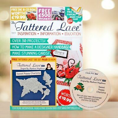 Tattered Lace Magazine Issue 32 With Free Dies And Cd New