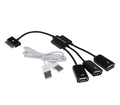 Premium otg 3in1 Set USB Connection Kit Adapter Cable for Samsung Tab/Note