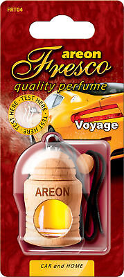 3x Genuine Areon Fresco Car Air Freshener Scent Container Tree Travel