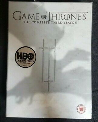 Game of thrones complete third season -brand new sealed packaging Rated 15 - DVD