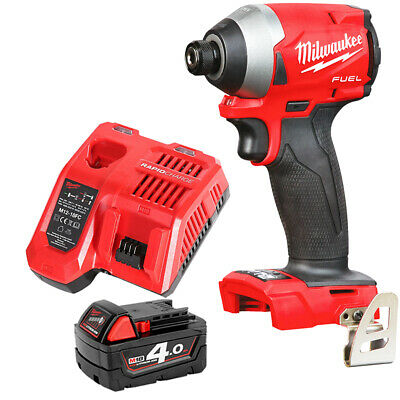 Milwaukee M18FID2 18v M18 Fuel Impact Driver With 1 x 4Ah Battery & Charger
