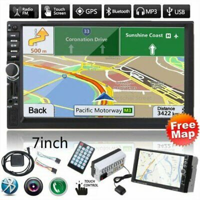 7 inch HD Car Double 2din Mp5 Radio Video Player with GPS USB SD FM Bluetooth MX