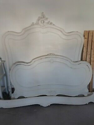 french louis antique double bed frame