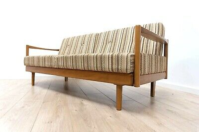 Superb Mid Century Vintage Teak Danish Modernist Sofa Day Bed Settee /659