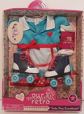 Our Generation Soda Pop Sweetheart Retro Diner Doll Outfit