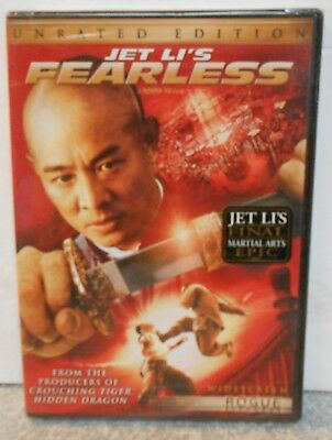 Fearless (DVD, 2006 Unrated) RARE JET LI MARTIAL ARTS ACTION BRAND NEW