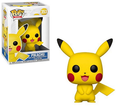 Pop Games Pokemon Pikachu Vinyl Figure #353 with Box Toy Gift UK SELLER