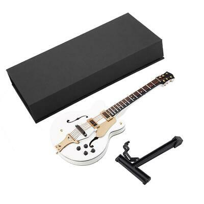5.5in Miniature Basswood Guitar White Miniature Electric Guitar Replica w/Box